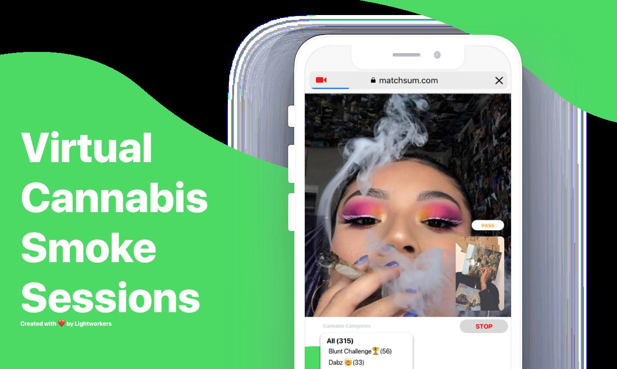 Matchsum - Virtual cannabis smoke sessions