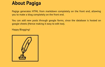 Pagiga Dead Simple Markdown Blogging Product Hunt