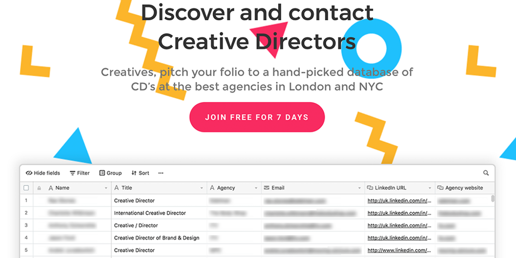 CDintro - Discover and contact Creative Directors in your