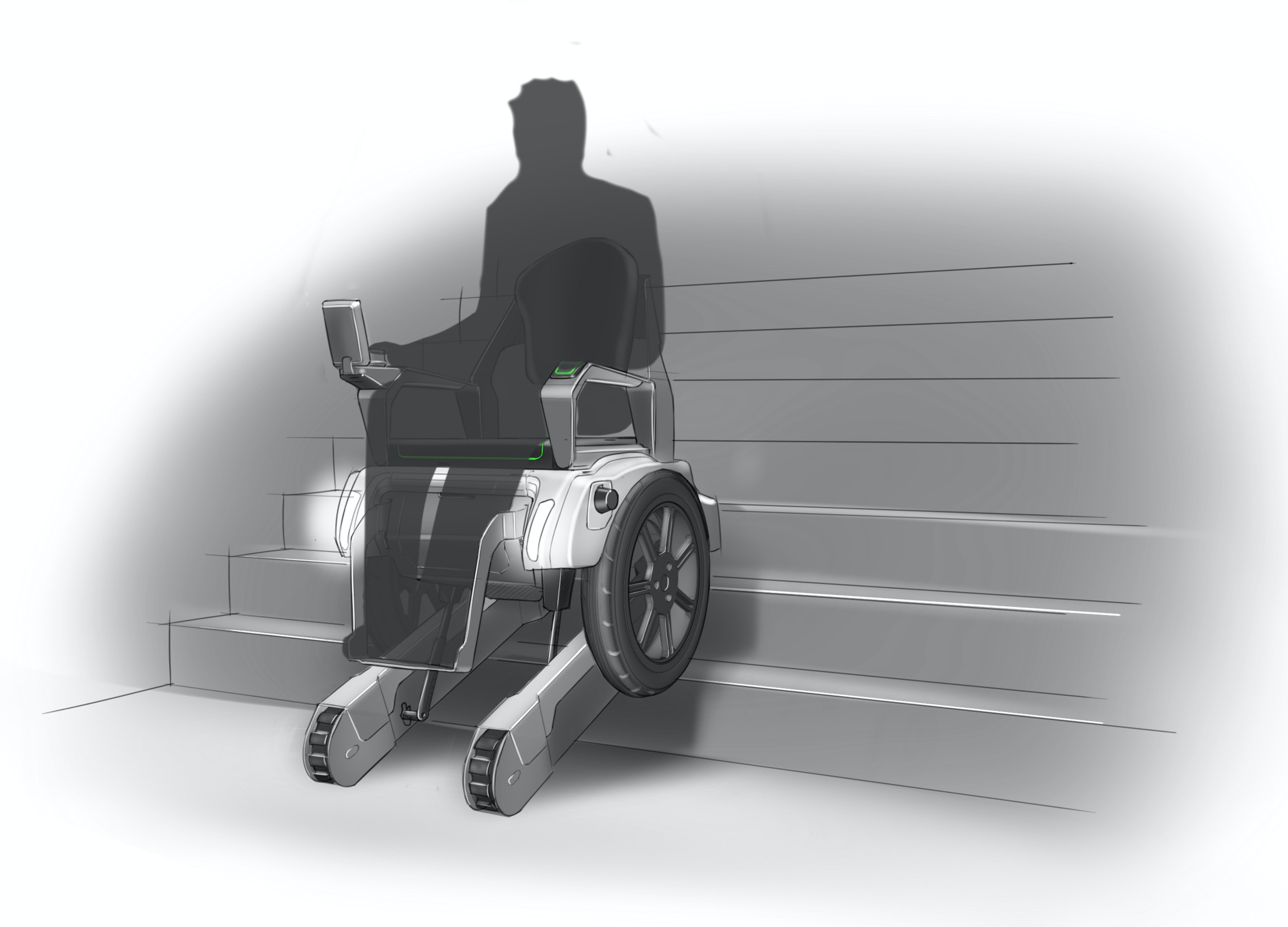 Scalevo - Electric wheelchair that can climb stairs