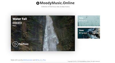 Moody Music - Focus, relax, & sleep musics   Product Hunt