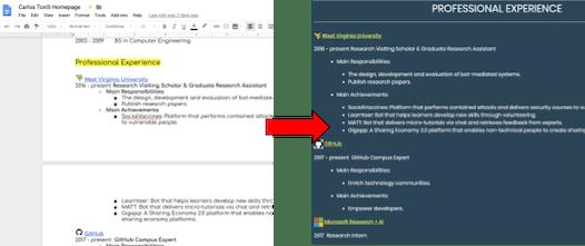 Docs2Web - Turns any Google Docs document into a modern website