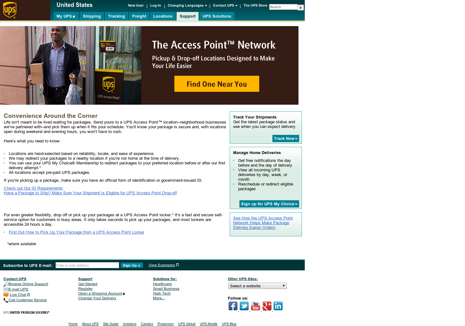 ups access point - convenient pickup and drop off locations for ups