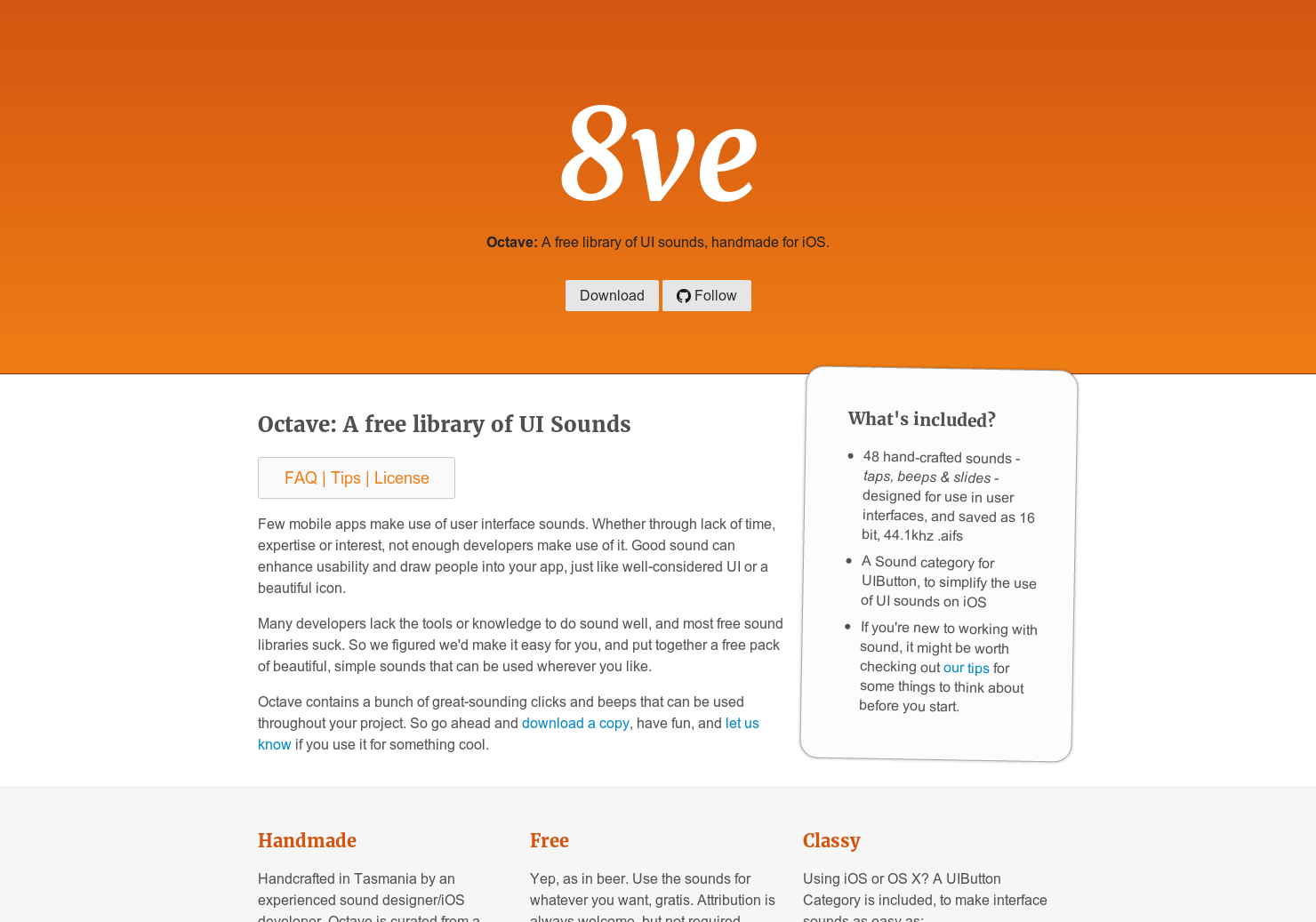 Octave - A free library of UI sounds for your apps | Product Hunt