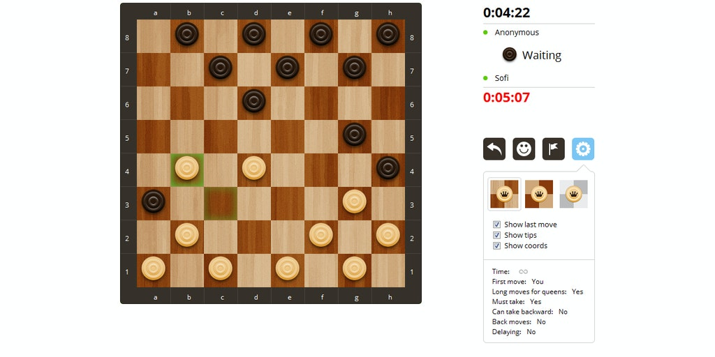 Checkers with Friends - Invite your friends to play
