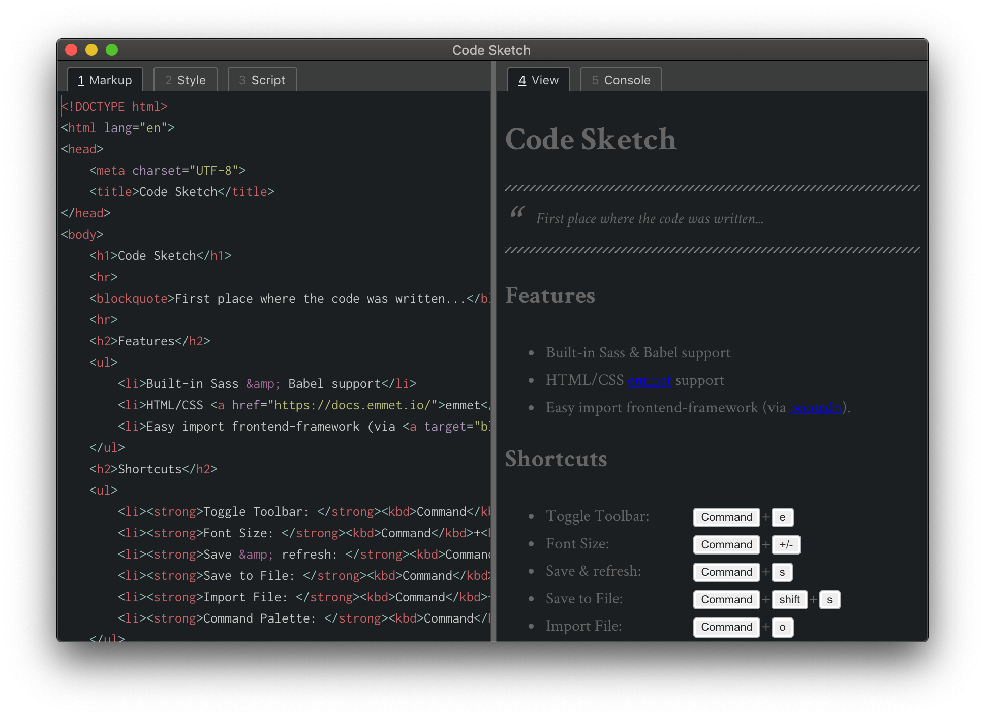 Code Sketch - A notepad for your code ideas 🛠️💡
