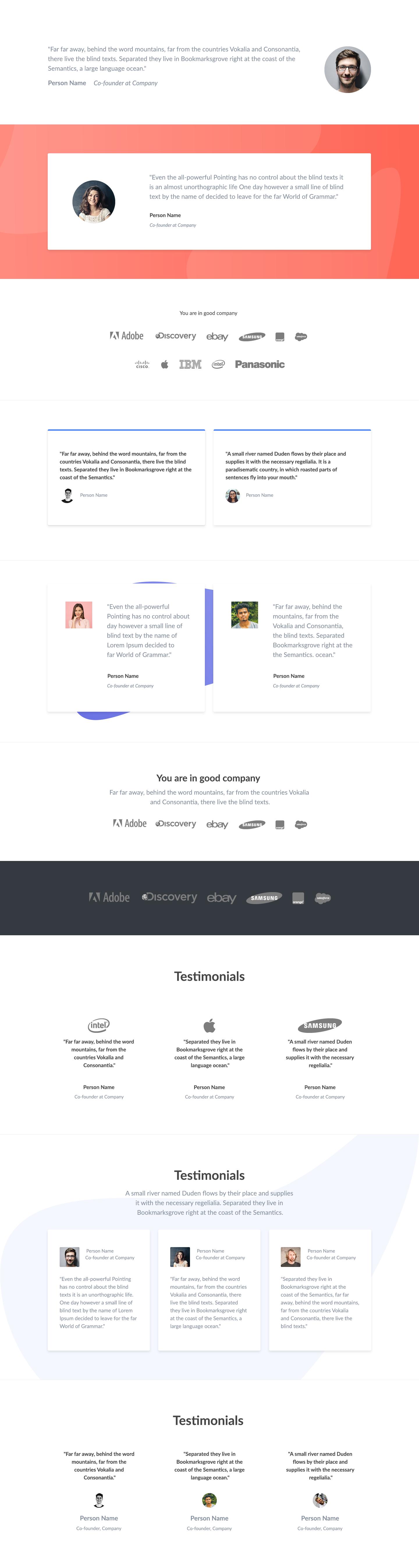 Froala Design Blocks 2 - Free responsive design blocks based on Bootstrap 4