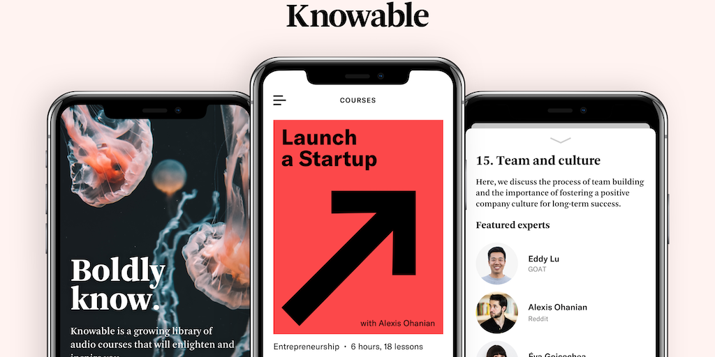Knowable - Audio courses that inspire new abilities