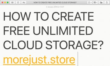 ff551ffb6d5 Morejust: store - Create your own free unlimited cloud storage ...