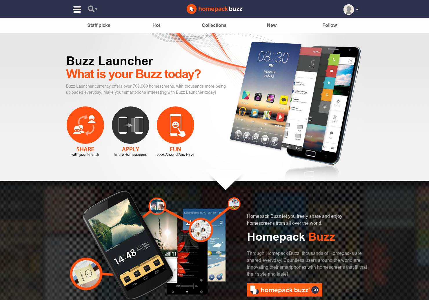 Buzz Launcher - Share and enjoy homescreens from all over