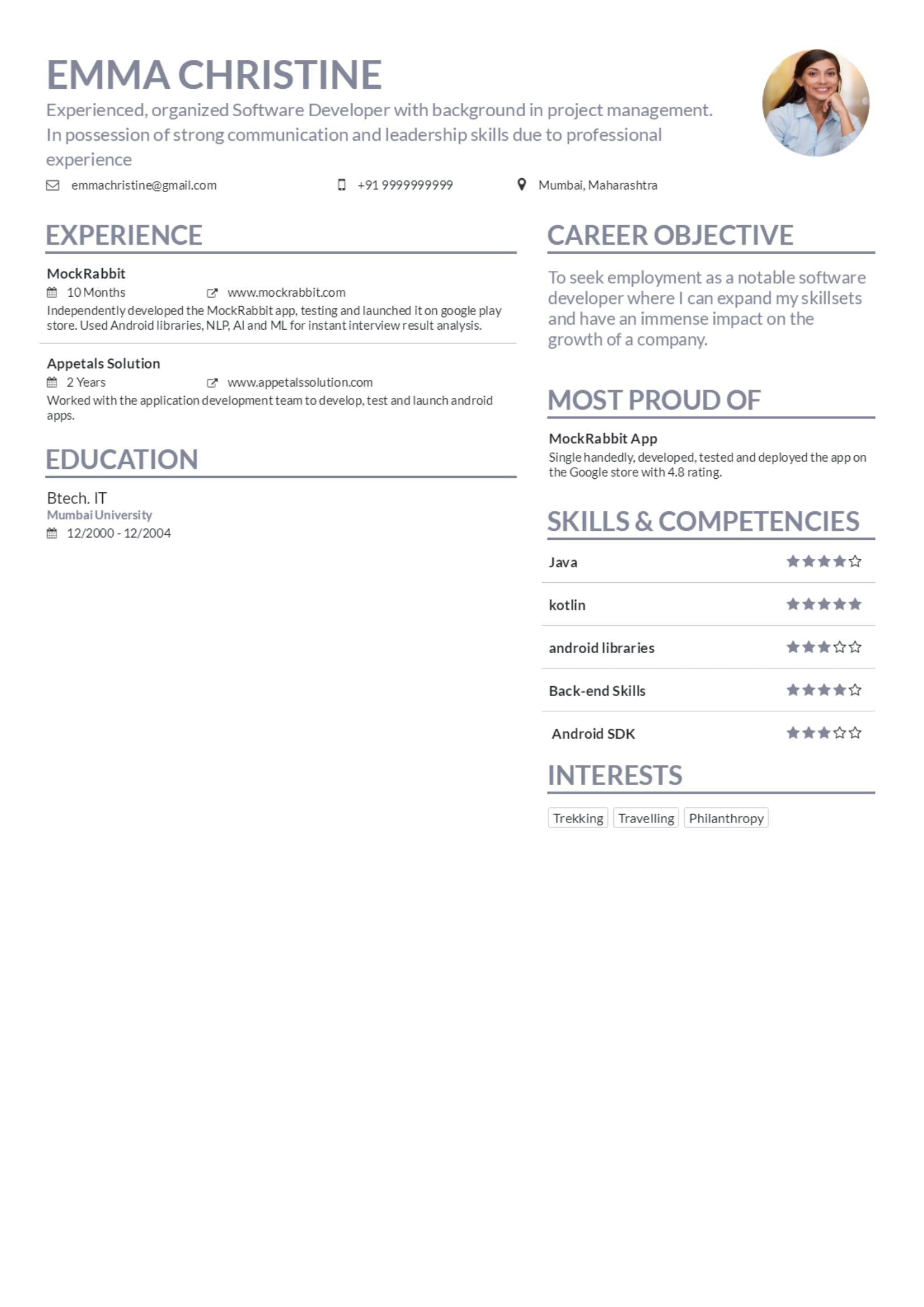 flipboard  resume maker by mockrabbit