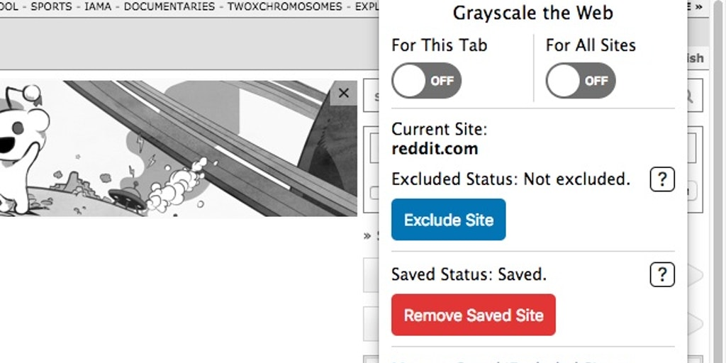 Grayscale the Web - Removes all 🌈 color from websites