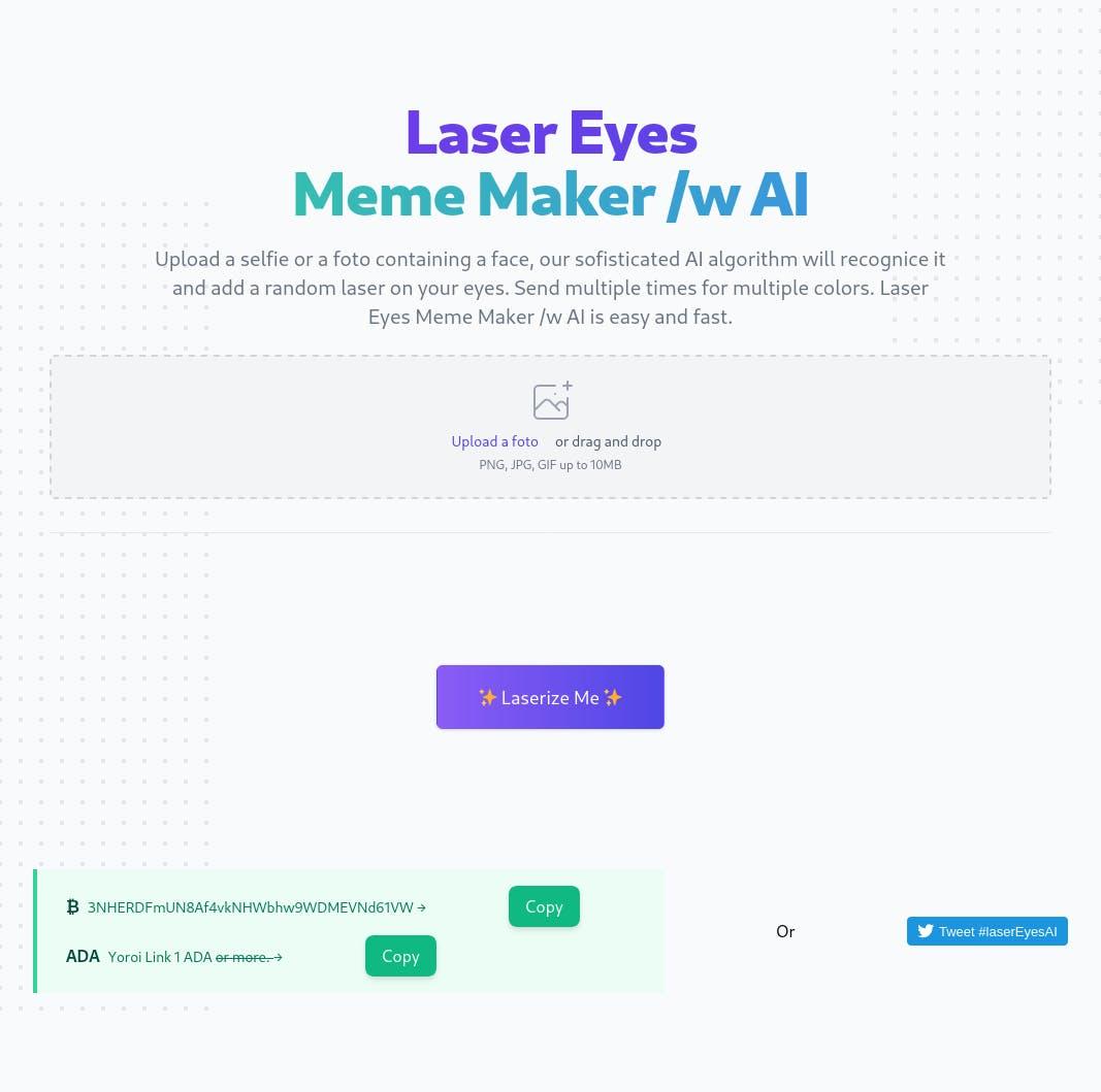 Laser Eyes Meme Maker - Add a random laser on your face ...
