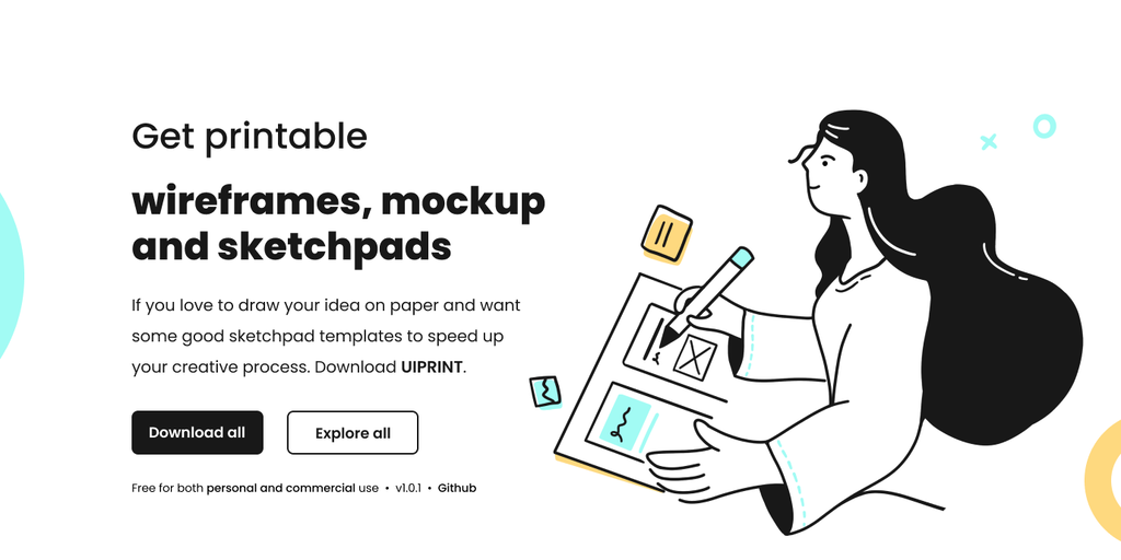 uiprint - Printable templates of mockup, wireframes and sketchpads | Product Hunt