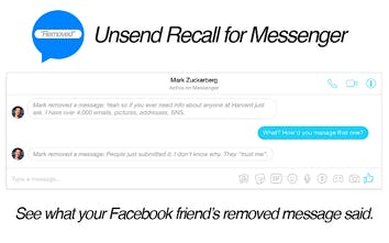 Unsend Recall for Messenger - Chrome extension that shows