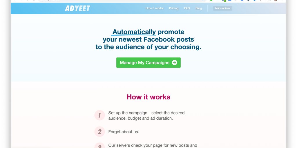 AdYeet - Cheapest & Simplest Facebook post auto-booster out there | Product Hunt