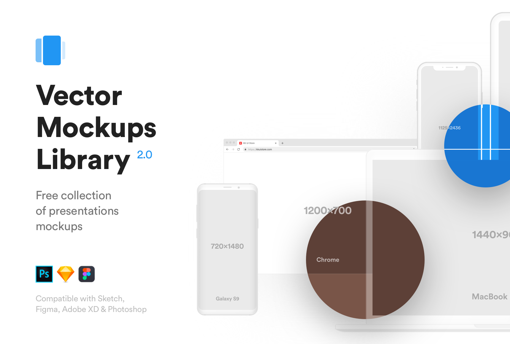 Vector Mockups Library - Free collection of mockups for Sketch, Figma & Photoshop