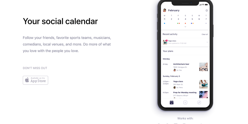 IRL Social Calendar - Helping friends spend more time together In Real Life! | Product Hunt