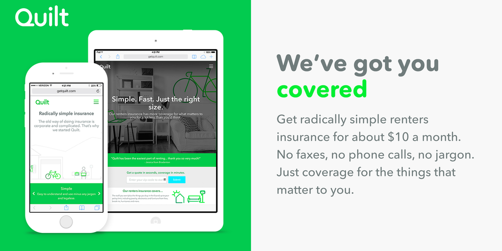 Quilt - Radically simple insurance (aka, taking the suck ...