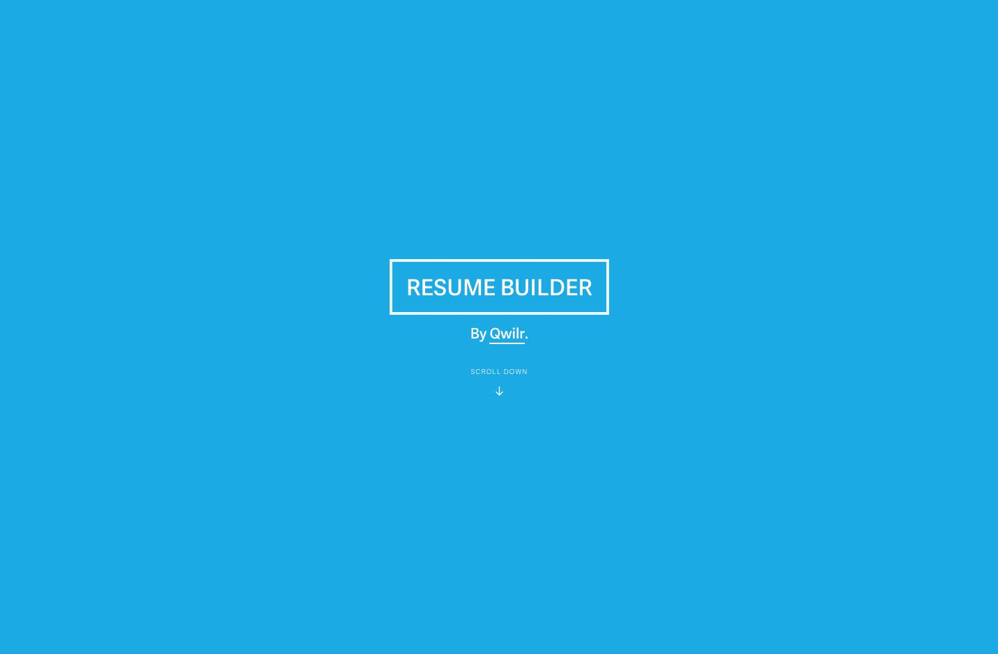 Resume Builder Resumes In 5 Mins As Beautiful One Page Websites