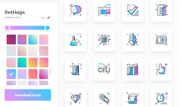 Gradientify Icons Interactive Free Svg Icons You Can Colorize As You Wish Product Hunt
