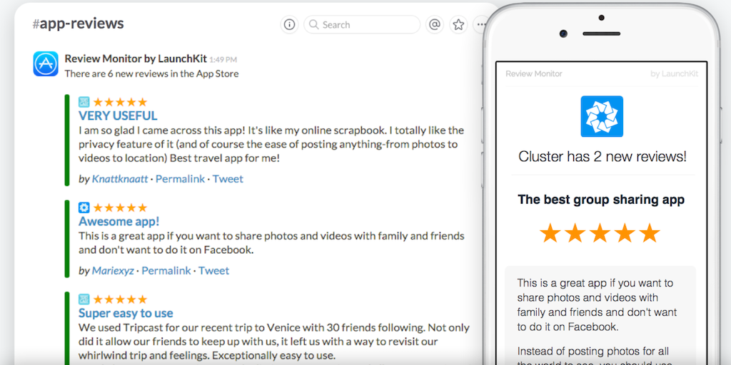 App Review Monitor - App Store reviews delivered to Slack and your