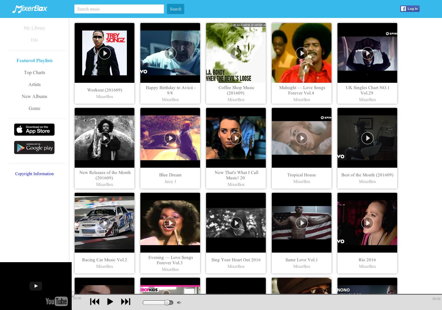 Mixerbox - Access iTunes, YouTube, Spotify,Radio etc within