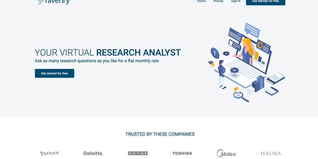 Ravenry - Customised research in 48 hours | Product Hunt