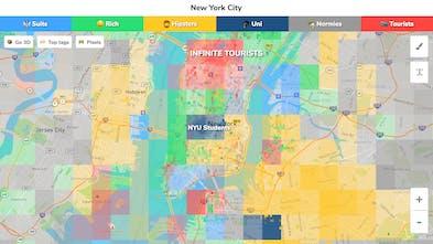 Map Of New York City For Tourists.Hoodmaps Crowdsourced Neighborhood Maps To Navigate A City