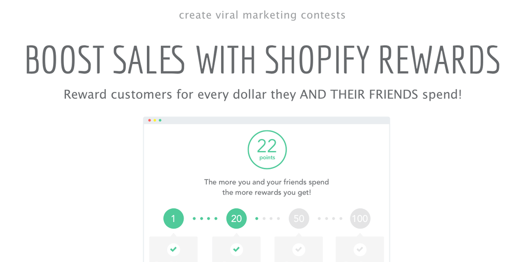 Shopify Reward Campaigns Via KickoffLabs - Reward people for every dollar spent or sent to your store | Product Hunt