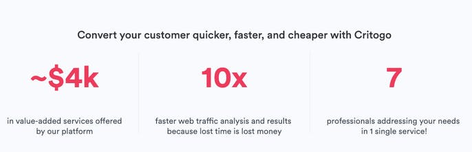 Critogo - Professional review for your web or mobile app   Product Hunt