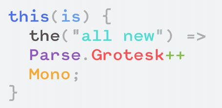 Parse Grotesk Mono - A programming font with a bit of