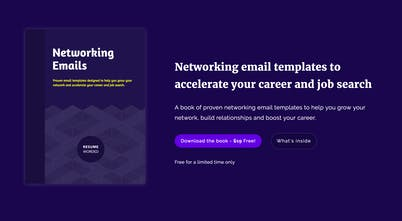 Networking Email Handbook - Free book of email templates to help you