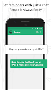 Rembo - A chatbot that reminds you of your tasks by calling you