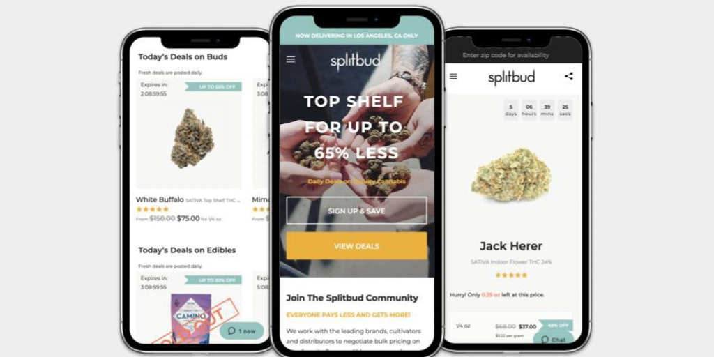 Splitbud - Affordable weed in Los Angeles for street prices | Product Hunt