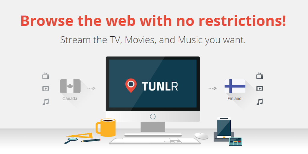 Tunlr - Unblock over 7000 movies and TV shows   Product Hunt