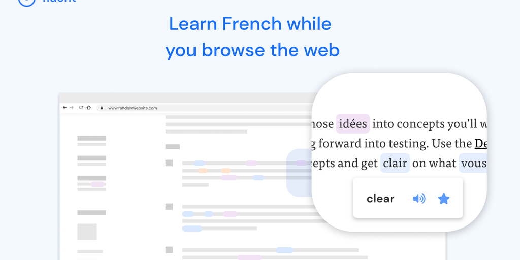 Fluent - Learn a new language by browsing the web   Product Hunt
