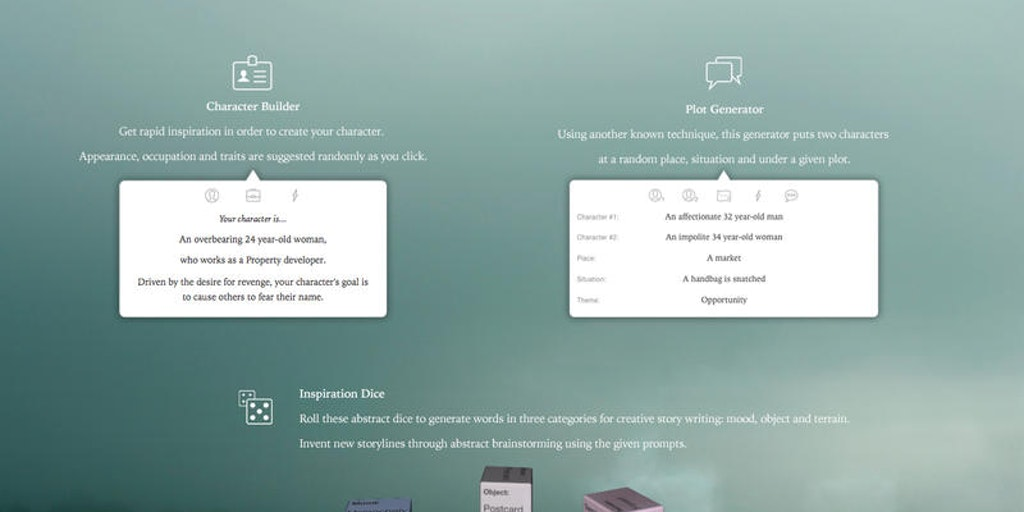 Haven - A set of tools to inspire creative writing | Product