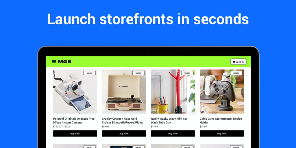 Storefronts - Launch, sell & ship instantly, no coding required   Product Hunt