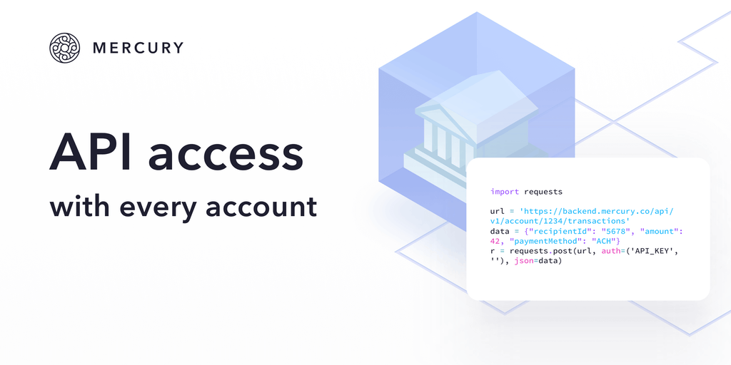 Mercury API - API for your business bank account | Product Hunt