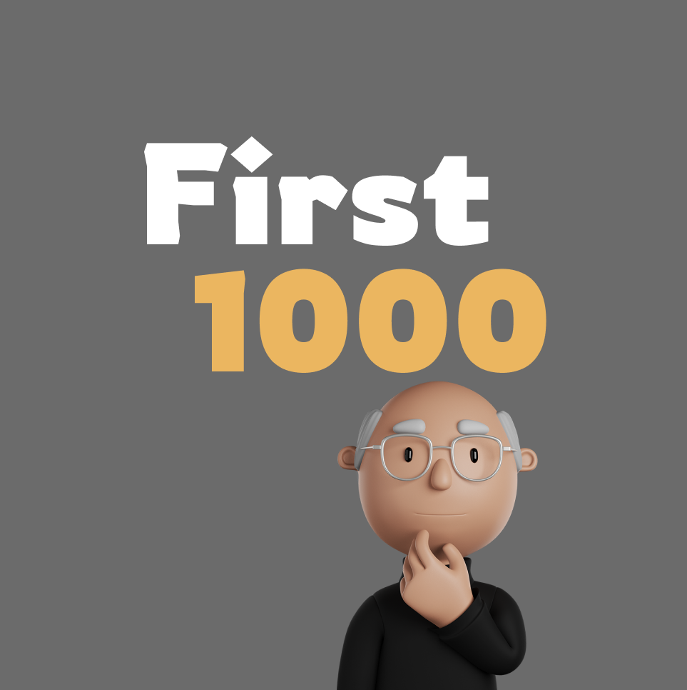 First 1000 Product Hunt Thumbnail