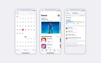 iOS 12 GUI - Free collection of UI components and screens of