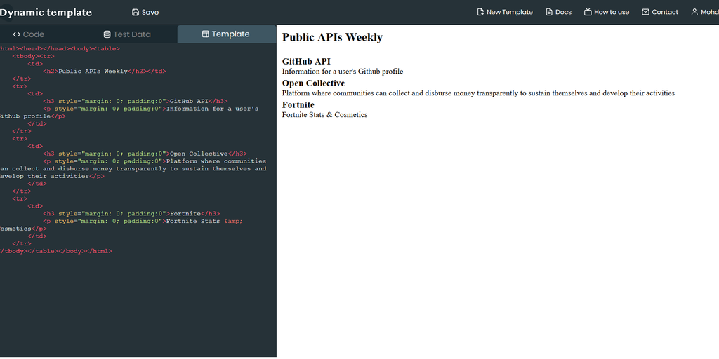 Dynamic Email Template - Generate Email Template Code with Dynamic JSON Data or API | Product Hunt