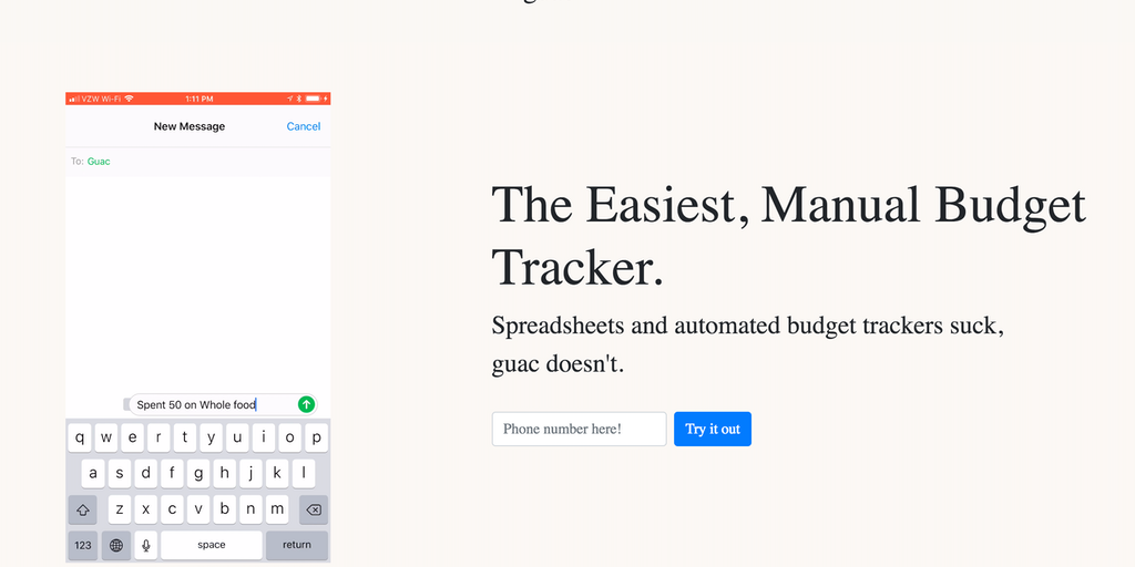 Guac - The simplest, manual budget tracker powered by AI