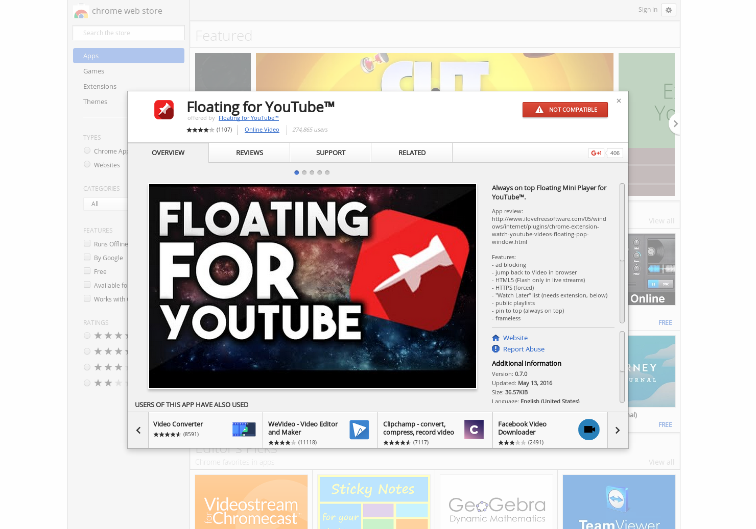 Floating For Youtube Always On Top Floating Mini Player For