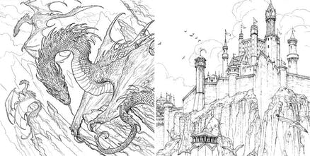 The Official Game of Thrones Coloring Book - 45 exclusive ...