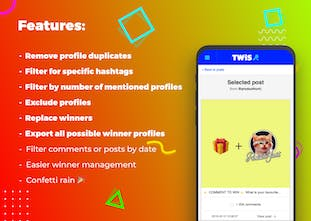 TWiS - Select winners from Instagram comments and mentions | Product
