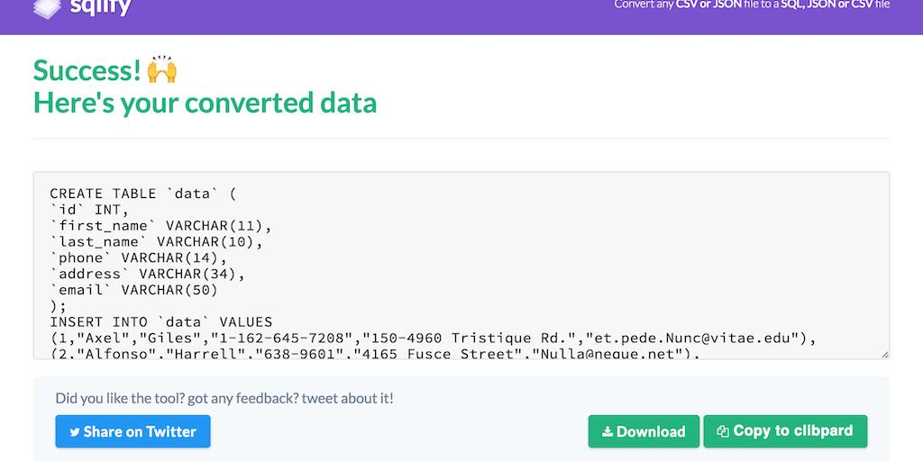 convert large json file to csv online