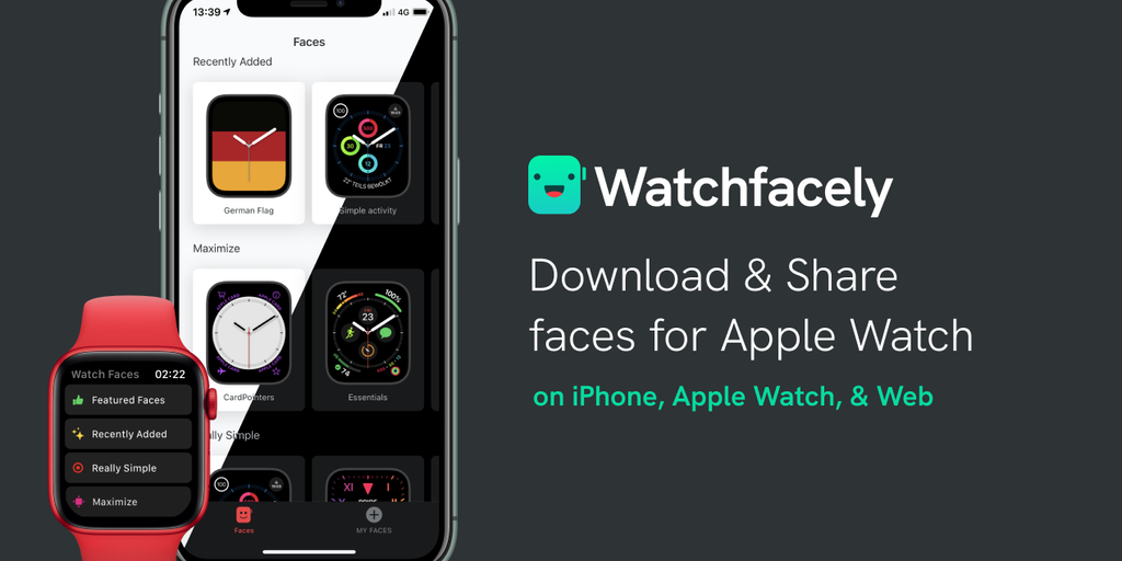 Watchfacely iOS - Share & download faces for your Apple Watch on watchOS 7 | Product Hunt