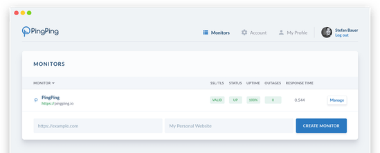 PingPing - A simple tool to monitor your website and SSL | Product Hunt